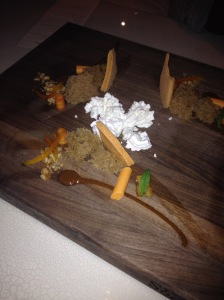 Volver Deconstructed Carrot Cake