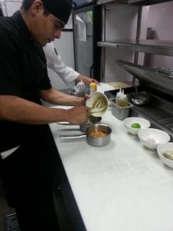 Nizuc Cooking Class at Ramona Restaurant- Sweet potato and pimpkin seed puree