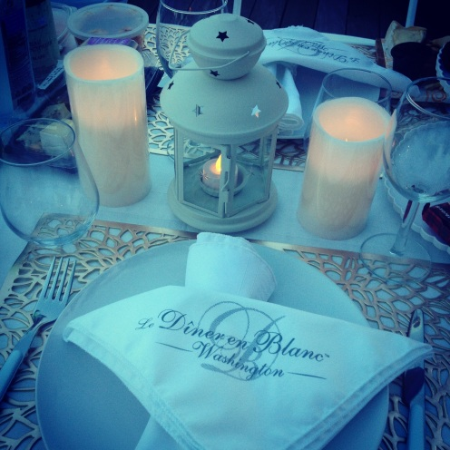 Diner En Blanc - My tablescape creation